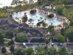 On-site facilities:- Drone view of pool