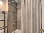 Guest Bath - Shower/bathtub combination.