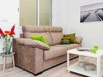 Cómodo sofa con TV-HD