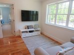 View of Flat Screen TV in sitting area and Bedroom 3- 5 White Cedar Lane -Orleans- Cape Cod New England Vacation Rentals