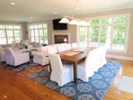 Living/dining area WIFI and CENTRAL AIR- 5 White Cedar Lane -Orleans- Cape Cod New England Vacation Rentals