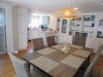Dining room looking toward kitchen- 5 Sea Breeze Avenue Harwich Port Cape Cod - New England Vacation Rentals