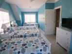Bedroom # 3 has sleeping for 4- perfect for the kids!! -(3 twins beds and a day bed) 5 Sea Breeze Avenue Harwich Port...