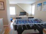 Includes a fun fooseball table and TV! -5 Sea Breeze Avenue Harwich Port Cape Cod - New England Vacation Rentals