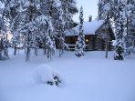 Cabin in winter time