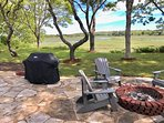Panoramic view from the new patio at this spacious home near Cape Cod Bay