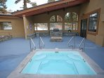 Small pool is open during summer months only. Covered firepit and BBQ open year round