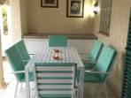 Another view of your private, ground floor, shaded terrace.