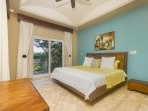 Master bedroom, king bed, private bath