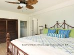 The master suite has an oceanfront view and a lanai.