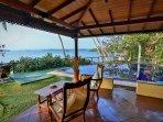 veranda,  we have sunbeds with mats