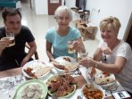 We can make arrangements of you need a cook for preparing local sea food