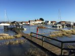 Southwold Harbour on a beautiful November day.