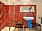 Spacious en-suite bathroom with shower to ground floor bedroom