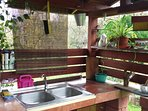 An Al Fresco kitchen where you can prepare and cook your meals during the Beautiful Bosnian Spring,