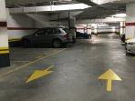 Two car parking spaces on the left