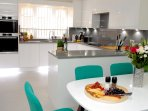 Spacious and well-equipped kitchen