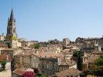 The beautiful Saint Émilion, a world UNESCO site with plenty of superb restaurants and bars