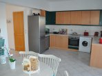 Villa Imerti - Kitchen fully equipped with sea view.