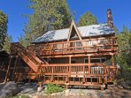 View of the back of the home that overlooks Lake Tahoe