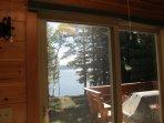 Sliding glass doors to deck