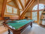 The loft has a pool table, just be careful when you break! You don't want to send a pool ball into the living area...
