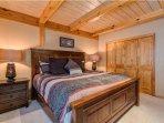 You guaranteed a good night's sleep in the king bed.