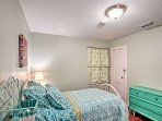 Wake up feeling refreshed after a night in this twin bed.