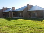 Self catering two bedroom units with built-in braai area on private patio
