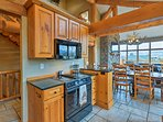 The kitchen is fully equipped with everything you'll need for a large group.
