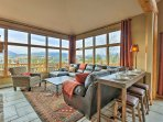 Enjoy views of the Continental Divide right from this main floor living room!