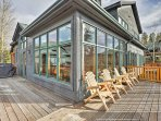 Enjoy the panoramic views from this wraparound deck both day and night.