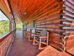 Sip your morning coffee as you gently wake up in the rocking chairs on the upper deck. For more photos of the property...