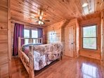 In addition to the picturesque views, the fourth bedroom features 2 queen-sized beds.