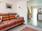 Cosy sofa to chill out on, or you can relax in the rocking chair