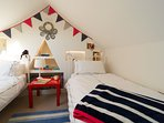 The attic room, perfect for grown up friends..