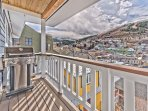 Deck off Dining Area with Amazing Historic Park City and Resort Views!