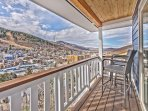 Private Deck off Kitchen and Dining Area with Patio Seating, a BBQ Grill and Amazing Views!