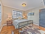 Master Bedroom  with King Bed, Hardwood Floors, Smart TV and Private Bath