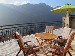 The sun terrace is a beautiful place for al fresco dining or enjoying aperitifs.