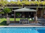 Private pool with chillout area and a
