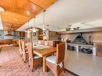 Fully equipped modern kitchen with chimney