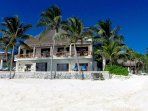 Located on Soliman Bay the villa has a sandy beach and magnificent views