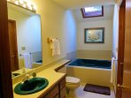 First floor bathroom with Jacuzzi.