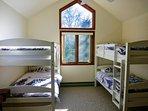 View of second floor bunk bedroom.