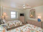 Bedroom #2 - TWO TWIN beds, TV, walk in closet