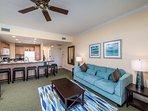 Living area of condo in Orlando`s finest Resort