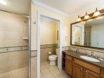 Master en-suite with walk-in shower