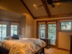 Upstairs, master bedroom with lakeside view