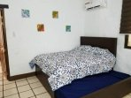 Queen bed with queen bed pull out